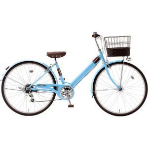 子供用自転車 シオノ マルロット 26 外装6段 オートライト (ライトブルー) SHIONO MALLROTTE 266 シティサイクル 塩野自転車|ad-cycle