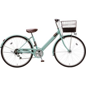 子供用自転車 シオノ マルロット 26 外装6段 オートライト (サワーグリーン) SHIONO MALLROTTE 266 シティサイクル 塩野自転車|ad-cycle