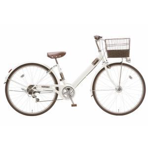子供用自転車 シオノ マルロット 26 外装6段 オートライト (スノーホワイト) SHIONO MALLROTTE 266 シティサイクル 塩野自転車|ad-cycle