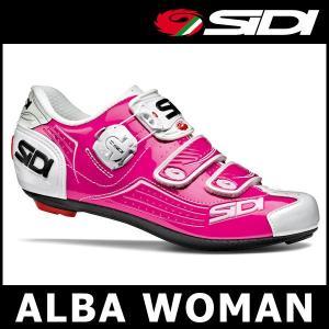 SIDI ALBA WOMAN (フューシャ/ホワイト) シディー アルバ ウーマン サイクル ビンディング シューズ レディース|ad-cycle