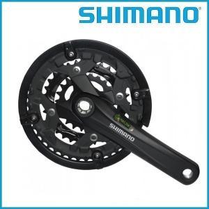 SHIMANO/シマノ ギアクランク セットブラック 44-32-22T 170mm チェーンガード付 EFCT4010C422CL  ALIVIO FC-T4010 / オクターリンク|ad-cycle