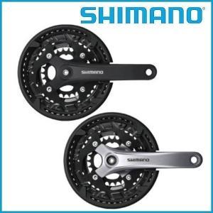SHIMANO/シマノ ギアクランク セットブラック 44-32-22T 170mm チェーンガード付 EFCT3010C422CL ACERA FC-T3010|ad-cycle