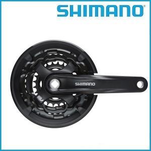 SHIMANO/シマノ ギアクランク セットブラック 42-34-24T 170mm チェーンガード付 EFCTY701C244CL1 8/7/6S  / スクエア |ad-cycle