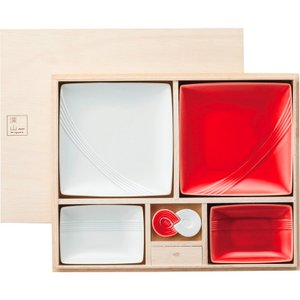 内祝い お返し ギフト 和陶器 m1yama. m1zu-h1k1 紅白器揃(あわじ結び) 93-126-102 送料無料 adachinet-giftshop