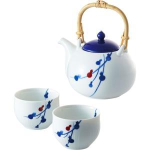 内祝い お返し ギフト 和陶器 m1yama. fucube 茶器セット(染付六ツ瓢) 94-126-141 送料無料|adachinet-giftshop