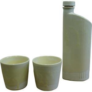 内祝い お返し ギフト 和陶器 信楽焼 イオンボトル綾セット(パール) 1on-m1s 送料無料|adachinet-giftshop