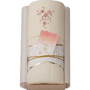 内祝い お返し ギフト 布団 王華 桜刺しゅうパイル肌布団(木箱入) OK1706 送料無料|adachinet-giftshop