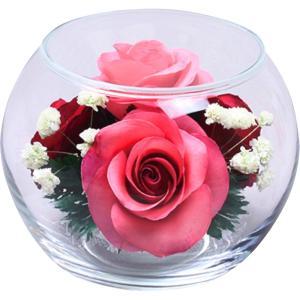 内祝い お返し ギフト 造花 ボトルフラワー ボール型S D-0033 送料無料|adachinet-giftshop