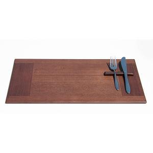 桐プレイスマット ブラウン 木製 ランチョンマット トレー おしゃれ テーブルウェア 無地 ギフト 朝倉家具 日本製 450×280mm adachiseisakusyo