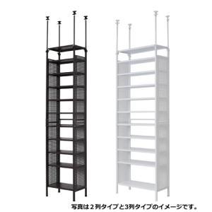 つっぱりシューズラック 4列10段+天板1 adachiseisakusyo