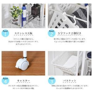 ステンレス天板ランドリーバスケット 3段|adachiseisakusyo|03