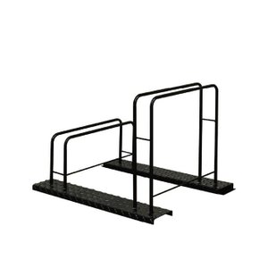シマ鋼板自転車スタンド(2台用)|adachiseisakusyo
