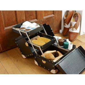 タイムボイジャー コレクションバッグL ブラック コスメボックス メイクボックス シューケア用品 靴磨き 収納|adachishiki