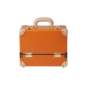 タイムボイジャー コレクションバッグL ビターオレンジ コスメボックス メイクボックス シューケア用品 靴磨き 収納|adachishiki