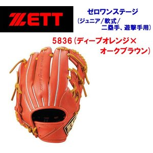 ZETT(ゼット) 軟式グラブ ゼロワンステージ 二塁手・遊撃手用:右投用(ジュニア:軟式グラブ) BJGB71910 ジュニア・キッズ|adachiundouguten