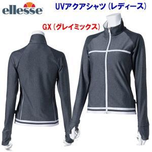 ellesse(エレッセ) UVアクアシャツ(レディース:水着) ES18100|adachiundouguten