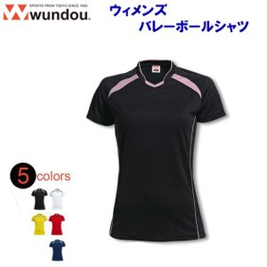wundou(ウンドウ) ウィメンズバレーボールシャツ/110-150サイズ(ガールズ:バレーウェア) P1620J ジュニア・キッズ|adachiundouguten