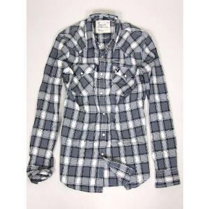 アメリカンイーグル/ウエスタンチェックシャツ グレー メンズ 長袖 チェック シャツ adamas