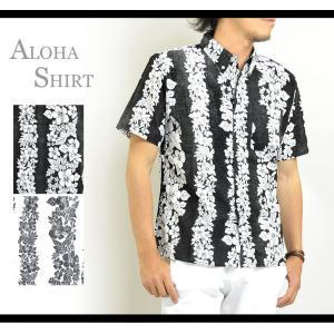 アロハシャツ メンズ 花柄 半袖 ボタンダウンシャツ 大きいサイズ3Lあり 春 夏|adamas