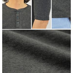 5分袖/五分袖/Tシャツ/ヘンリーネック/メン...の詳細画像2