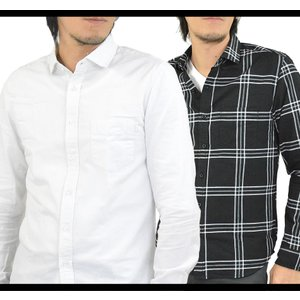 シャツ メンズ 白シャツ 長袖シャツ 無地シャツ カジュアルシャツ オックスフォードシャツ ワイドカラー 綿100% シャツ 春 オックスフォード 柄シャツ adamas