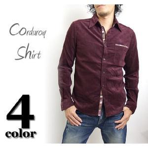 コーデュロイシャツ/メンズ/コーデュロイシャツ/長袖シャツ/無地/メンズ|adamas
