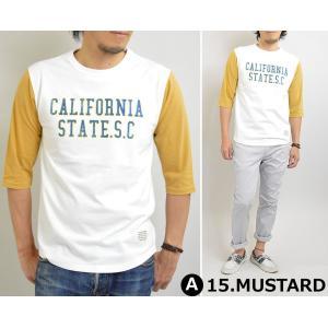 Tシャツ メンズ ラグラン 6分袖 プリント Tシャツ 長袖 USAコットン 秋 adamas