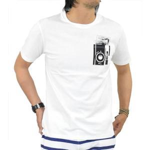 Tシャツ メンズ 半袖 トロンプルイユ(だまし絵) おもしろTシャツ カットソー 半袖Tシャツ プリントTシャツ カットソー 春 夏 秋 adamas