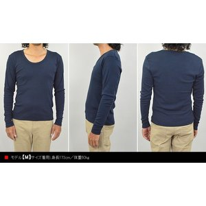 Tシャツ 長袖 メンズ ロンT Uネック 長袖...の詳細画像2