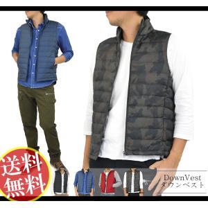 ダウンベスト メンズ ジャケット はおり 暖かい 軽量 薄手...