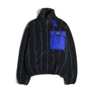 Jieda ジエダ BOA HIGH-NECKED JACKET (STRIPE) ボアハイネックドジャケット フリースジャケット|addictive