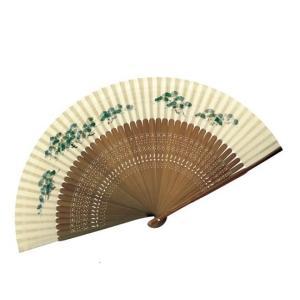 京扇子 大短地手描絵 松 紳士用 adecre
