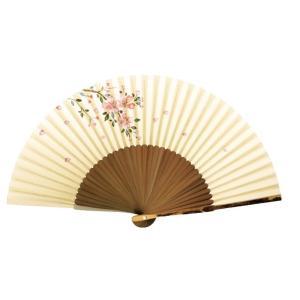 京扇子 親斑竹中短地手描絵 桜 婦人用 adecre