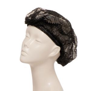 脱毛時用ヘアキャップ(黒)(5枚入り) アデランス 医療 脱毛 抗がん剤治療