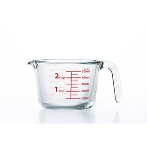 計量カップ 耐熱 ガラス おしゃれ 目盛り 500 アデリア メジャーカップ