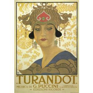 ポスター  イタリア アート オペラ トゥーランドット I.F.I ラッピングペーパー 50×70 ...