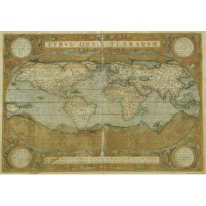 世界地図 ポスター I.F.I ポスター 50×70 MAPPA DEL MONDO CR009 イ...