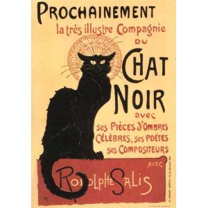 ポスター 猫 I.F.I  ポスター 50×70 CHAT NOIR CR012 黒猫 インテリア ...