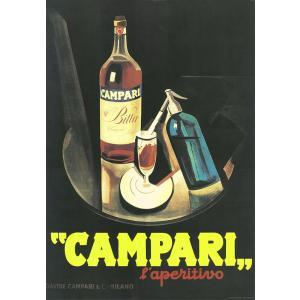 ポスター イタリアアート  I.F.I  ラッピングペーパー 50×70 カンパリ CAMPARI ...