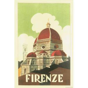 ポスター イタリア フィレンツェ I.F.I  ポスター 50×70 FIRENZE CUPOLA ...
