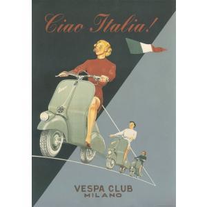 ポスター イタリア ベスパ vespa I.F.I ポスター 50×70 CIAO ITALIA C...