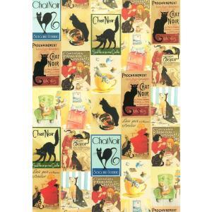 ポスター イタリア 黒猫 I.F.I ポスター 50×70 GATTI CR060 イタリア 猫 インテリア adesso-nip