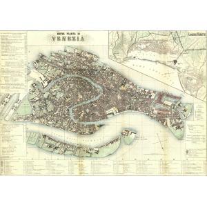 ポスター イタリア ヴェネツィア I.F.I ポスター 50×70 MAPPA VENEZIA CR...