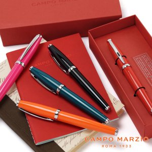 ボールペン ローラーボールペン 筆記具 万年筆 カンポマルツィオ 水性インク CAMPO MARZIO SHINY|adesso-nip