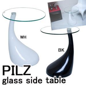 サイドテーブル ガラステーブル  A3217の写真
