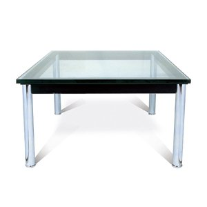 ル・コルビジェ  LC-10 ガラステーブル 70cm幅 コーヒーテーブル CT-5079A|adhoc-style