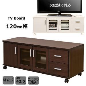 テレビボード 120cm幅 HIT-08 収納付き テレビ台 TREVISの写真