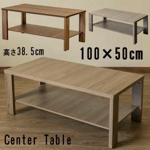 センターテーブル 棚付き 100cm×50cm 北欧風 LDN-02 シンプル KENNYの写真