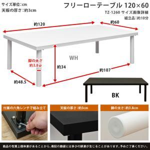 ローテーブル 120cm×60cm フリーデス...の詳細画像1