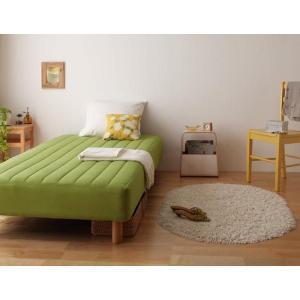 色・寝心地が選べる!20色カバーリングボンネルコイルマットレスベッド 脚15cm セミダブル|adhoc